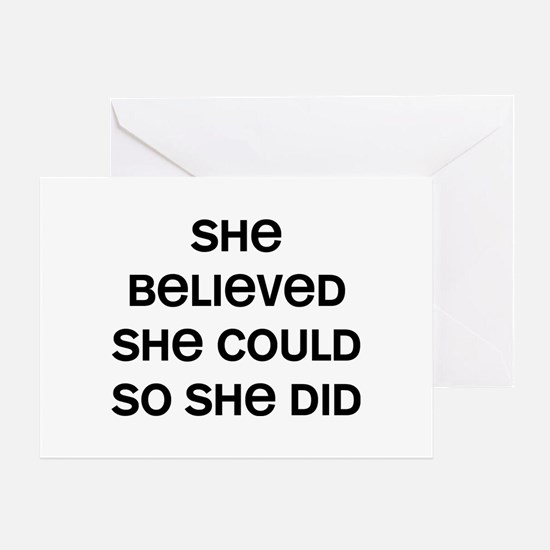 She Believed Greeting Card