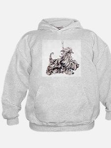 Afghan Hound Carousel I Hoodie