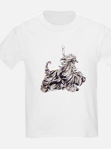 Afghan Hound Carousel I T-Shirt