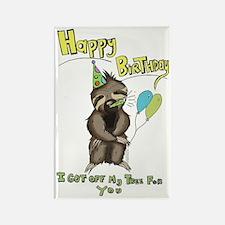 Happy Birthday Sloth Rectangle Magnet