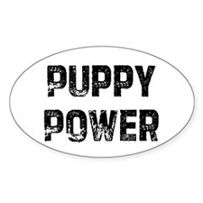 Puppy Power Oval Decal