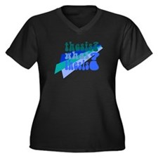What Thesis? Women's Plus Size V-Neck Dark T-Shirt