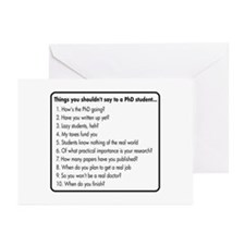 Don't Ask a PhD Greeting Cards (Pk of 10)
