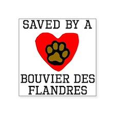 Saved By A Bouvier des Flandres Sticker