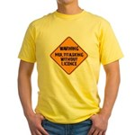 Don't Multitask With This Yellow T-Shirt