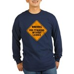 Don't Multitask With This Long Sleeve Dark T-Shirt