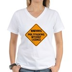 Don't Multitask With This Women's V-Neck T-Shirt