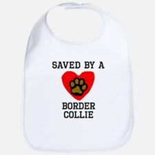 Saved By A Border Collie Bib