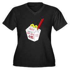 Hapa  Women's Plus Size V-Neck Dark T-Shirt