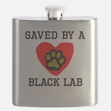 Saved By A Black Lab Flask
