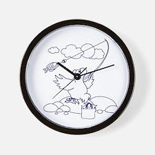 Fishing dodo Wall Clock
