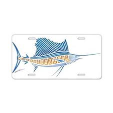 Tribal Sailfish Aluminum License Plate