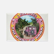 """I survived the road to Hana"" Magnets"