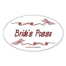 Bride's Posse Oval Decal