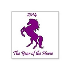 "2014 - The Year of the Hors Square Sticker 3"" x 3"""