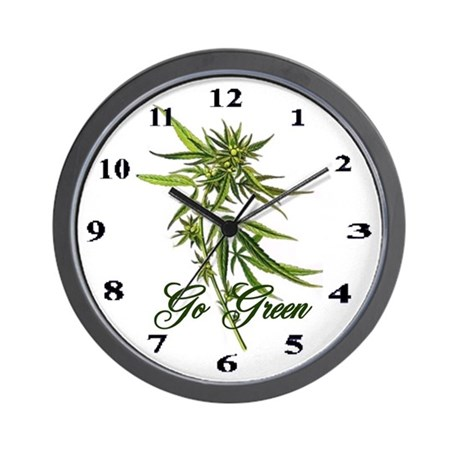 Go green wall clock by denesplace for Green wall clocks uk