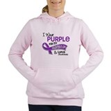 I wear purple for my cousin and lupus awareness Hooded Sweatshirt