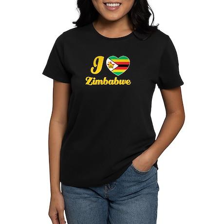 i love zimbabwe Women's Dark T-Shirt