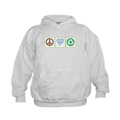 Peace, Love, Recycling Hoodie
