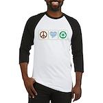 Peace, Love, Recycling Baseball Jersey
