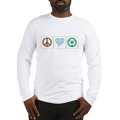 Peace, Love, Recycling Long Sleeve T-Shirt