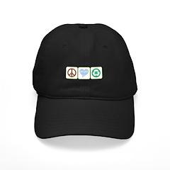 Peace, Love, Recycling Baseball Hat