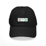 Peace, Love, Recycling Black Cap