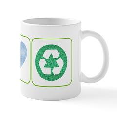 Peace, Love, Recycling Mug