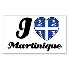 I love Martinique Rectangle Decal