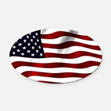 USA Flag Oval Car Magnet