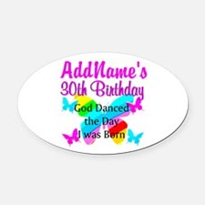 BLESSED 30TH Oval Car Magnet