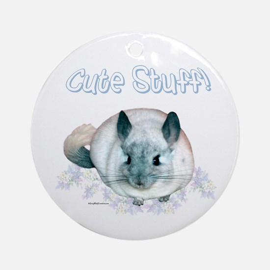 Chin Cute Ornament (Round)