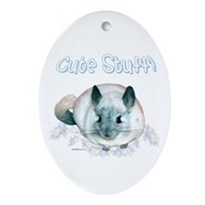 Chin Cute Oval Ornament