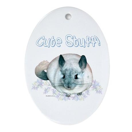 Chin Cute Oval Ornament