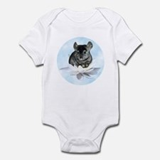 Chin Lily Blue Infant Bodysuit