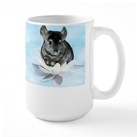 Chin Lily Blue Large Mug