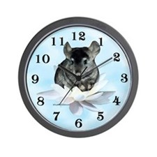 Chin Lily Blue Wall Clock