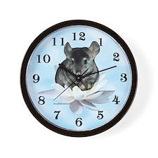 Chin Lily Blue Wall Clock