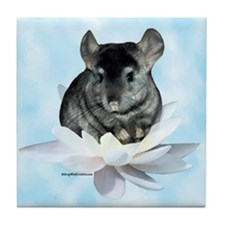 Chin Lily Blue Tile Coaster