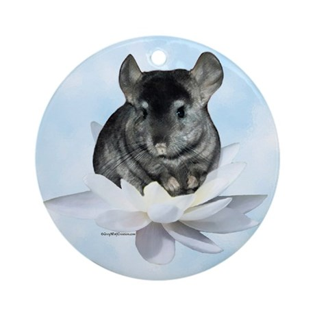 Chin Lily Blue Ornament (Round)
