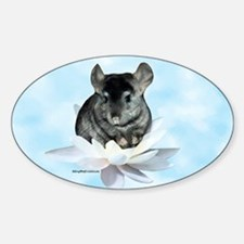 Chin Lily Blue Oval Decal