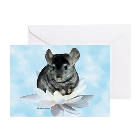 Chin Lily Blue Greeting Cards (Pk of 10)
