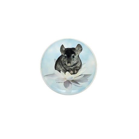 Chin Lily Blue Mini Button