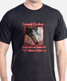 SERIOUSLY SPEAKING 2 CHARCOAL TEE