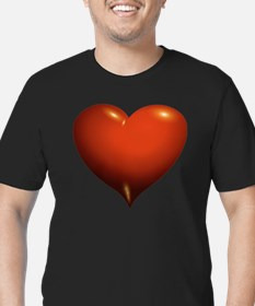 Heart of Love Men's Fitted T-Shirt (dark)