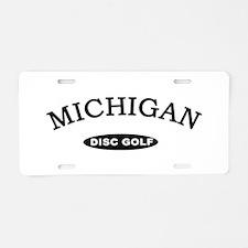 Michigan Disc Golf Aluminum License Plate