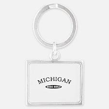 Michigan Disc Golf Landscape Keychain