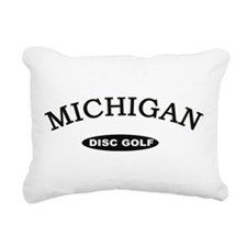 Michigan Disc Golf Rectangular Canvas Pillow