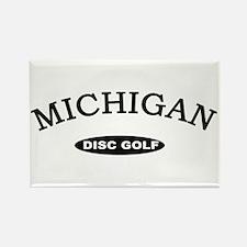 Michigan Disc Golf Rectangle Magnet