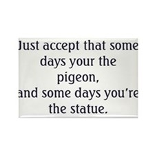 Pigeon and Statue Rectangle Magnet
